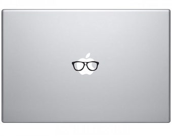 Nerd glasses black decal laptop apple mac sticker stickers