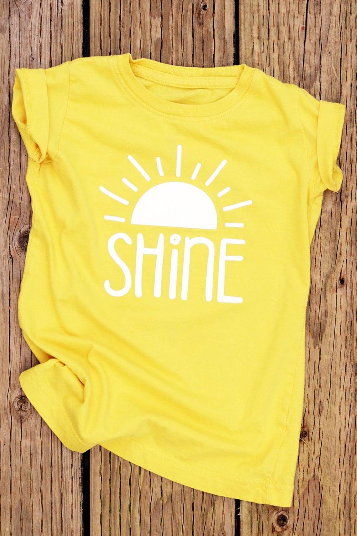 Shine Yellow Shirt Cute Shirts For Girls Girls Shirts