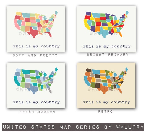 USA Map Nursery Decor Us Map For Kids Playroom Decor World - Us wall map for kids