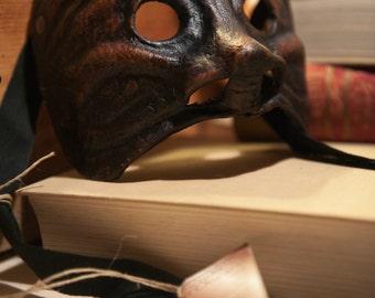 Maschera in pelle - Arlecchino - Vari colori