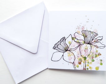 birthday card, watercolor birthday card, friend birthday card, botanical print, nature print, watercolour art, mothers day card