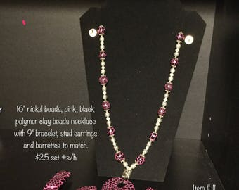 Necklace and earring sets