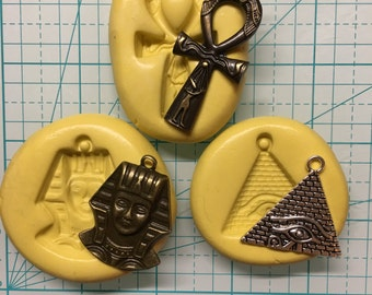 EGYPTIAN SERIES Charm Flexible Molds (Choose One or Set of Three)
