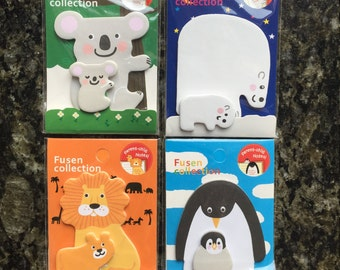 Polar bear lion koala penguin memo,memo sticker,animal sticky note,post-its,stationery,memo pad