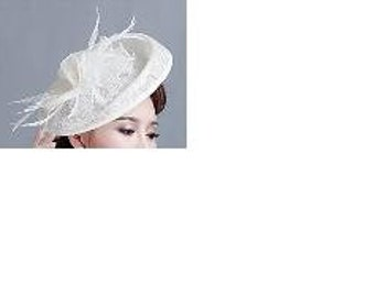 Tulle Feather Flowers Headpiece