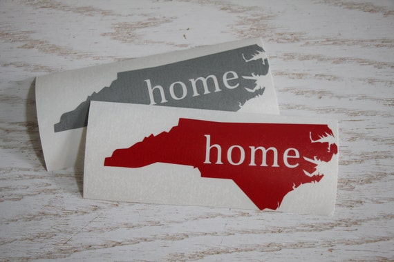 North carolina state vinyl decal sticker nc home state heart