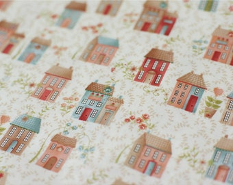 Cotton Fabric Doll House By The Yard
