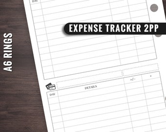 A6 Rings Expense Tracker, A6 Rings Spending Tracker, A6 Ring Budget Planner, A6 Rings Insert, A6 Rings Planner, A6 Rings Printables, A6 Ring