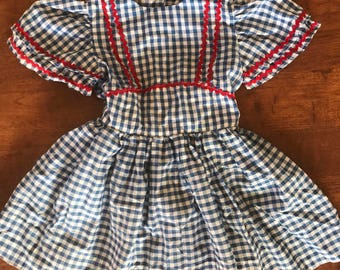 Vintage toddler gingham dress
