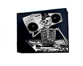 Leather Wallet Skeleton Boombox #142