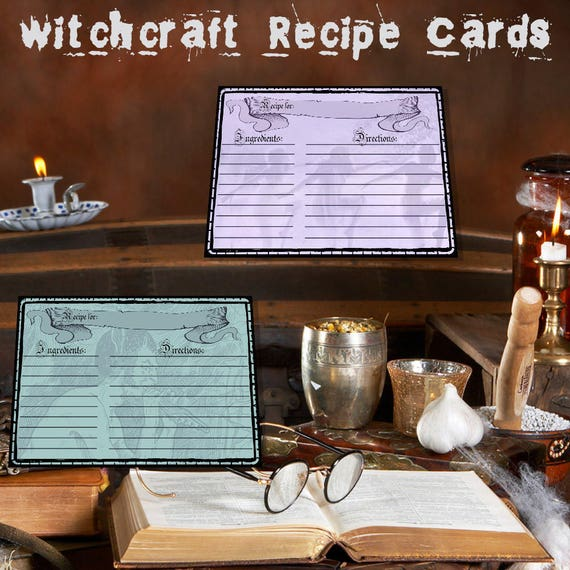 Witchcraft Recipe Cards - Spell Cards