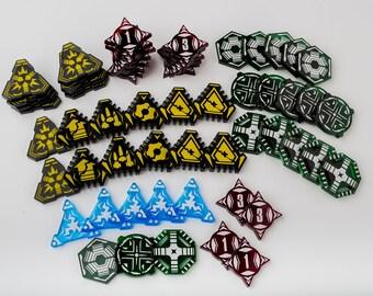 Acrylic Battalion Token Set - SW Legion Compatible