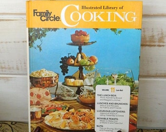 FAMILY CIRCLE Illustrated Library of COOKING -  Volume 11 - 1972 Vintage Cookbook