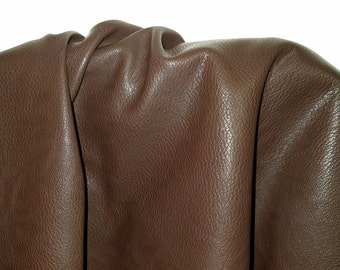 """Brown Faux leather Pleather sold by the yard """"Morris"""" 36 inches x 52 inches wide Synthetic for one yard.  1 yard"""