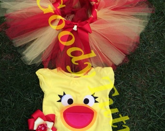 Sprout inspired Chica Tutu Set