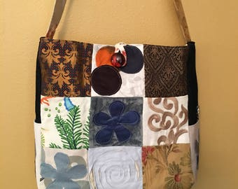 Amber#1714,  Extra Large Project Tote, Knitting Project Bag, Large Knitting Bag, Loom Tote, Needlepoint Bag, Project Bag, Yarn Tote, Crochet