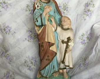 Antique French Statue of St Joseph