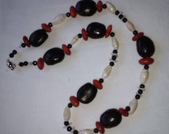 the Choker necklace with seeds and shells from the Brazil. Unique creation. handmade necklace. women gift. Brazilian necklace.