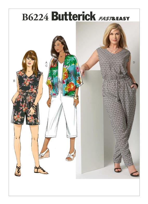 Sewing Pattern for Women\'s PLUS Size Kimono Jacket, Jumpsuit, Romper ...