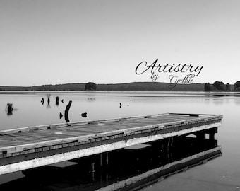 Black and white, BW, Lake Decor, Lake photography, Lake wall art, Nature Photography, Landscape, Wall Art, Decor