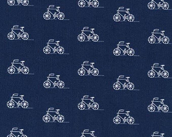 London Calling Lawn 6 - Bicycles Indigo - 1/2 yard