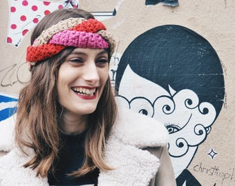 Knit and unique ethically braided headband