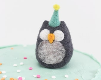 Woolly Poly Birthday Owl, Cake topper, Birthday Decoration