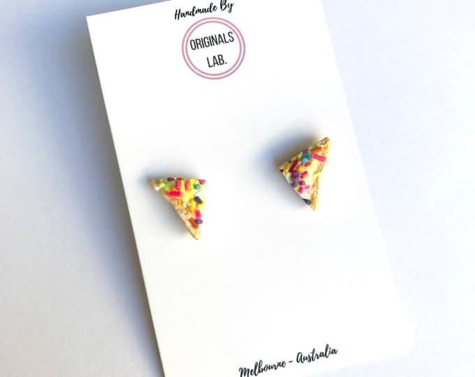 Fairy Bread Rainbow Sprinkle Earrings - Iconic Australian Party Food