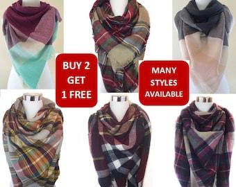 Blanket scarf, Plaid blanket scarf, Tartan plaid scarf, Zara blanket scarf, Tartan scarf, Oversized scarf, Oversized plaid scarf, Fall scarf