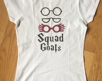 Harry Potter Squad Goals Glasses t-shirt plus sizes included