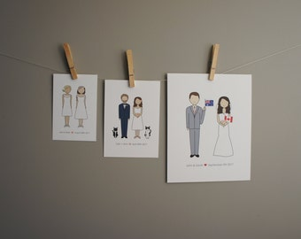 Bride and Groom Print | Personalized Bride and Groom Print | Wedding Gift | Personalized Wedding Gift | Anniversary Gift | Bride and Groom