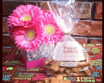 """Half-pound Natural Peanut Butter Dog Treats- """"Paws Up for Peanut Butter"""" by Bubbas' Nummies"""