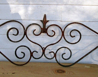 Architectural Element Ornate Iron Fence Top