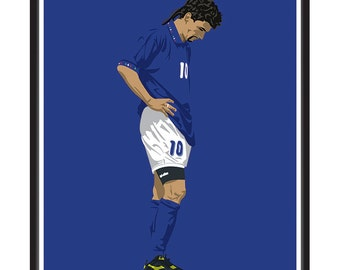 Italy World Cup 1994 A3 print