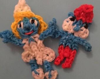 Rainbow loom set of two figurines