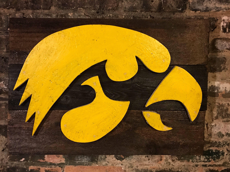 Iowa Hawkeyes IA College Vintage Sign Vintage Iowa Iowa
