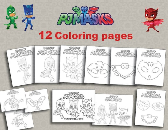 Instand pj dl 12 maschere stampabili da colorare file for Maschere stampabili