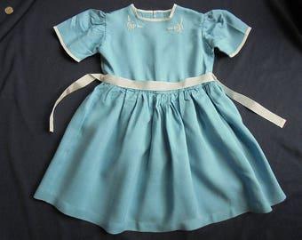 Girl's Dress - Home Made - 1950's