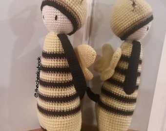 Crochet Bumble Bee. Crochet Amigurumi Soft Toy. Plush Bumble Bee Soft Toy. Bumblebee Amigurumi Doll. Amigurumi Bumble Bee. Amigurumi Bee.
