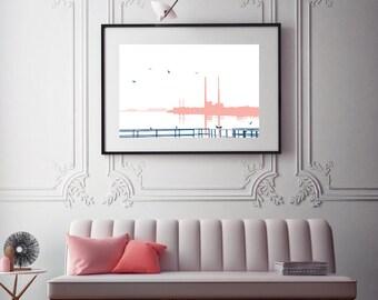 Seafront Slip Print