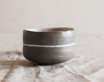 Stoneware chawan, ceramic teabowl, handmade ceramic pottery
