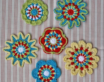 FLORAL MOTIFS - crochet pattern, PDF in English