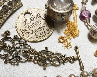 Junk Jewelry Lot-Mostly Bronze