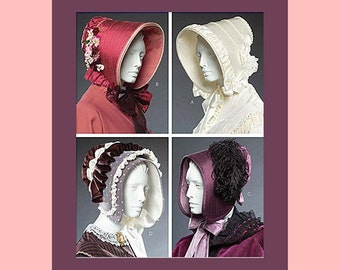 Civil War Era-Collection of Ladies Historical Bonnets-Hats-Costume Sewing Pattern-One Size-Uncut-OOP