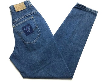 Vintage 1980s Women's LEE Skyriders Jeans ~ measure 24 x 31 ~ Relaxed / Tapered Fit ~ Mom Jeans ~ High Waist ~ size 9 Med