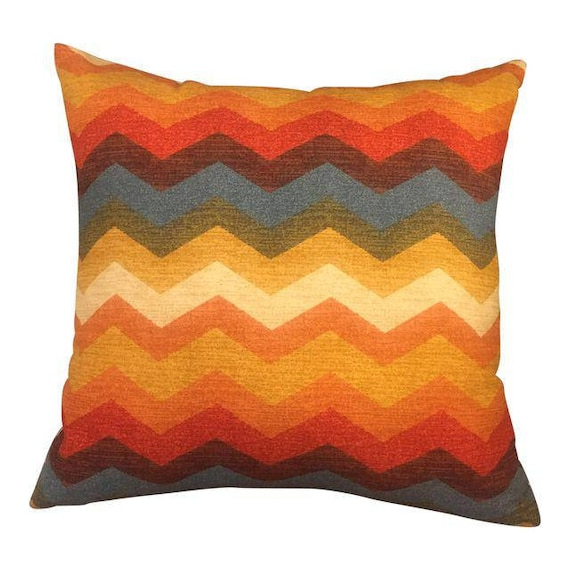 Handmade Zig Zag Shape Multi Colored Square Pillow