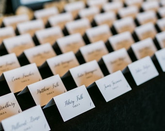 Place cards etsy wedding place cards escort card weddings tradtional calligraphy script wedding table cards junglespirit Images