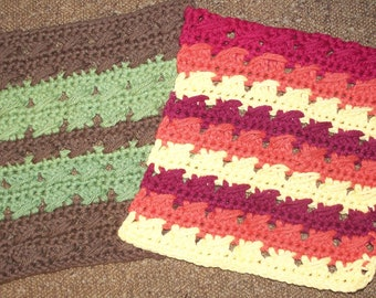 100% Cotton Crochet Dishcloth Washcloth Potholder