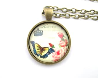 Roses with butterfly necklace