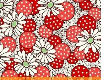 FABRIC FEEDSACK SUMMER Flowers and Berries reproduction by Windham